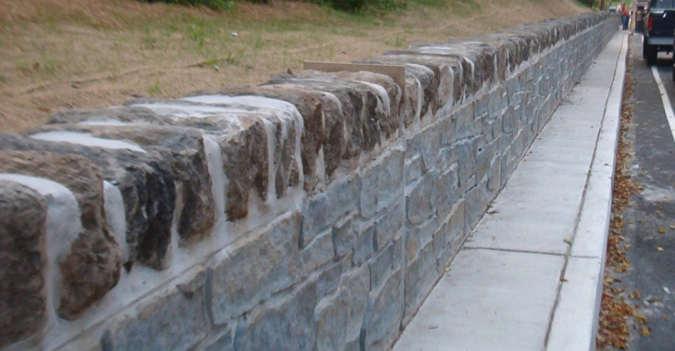 Stone Capped Barrier