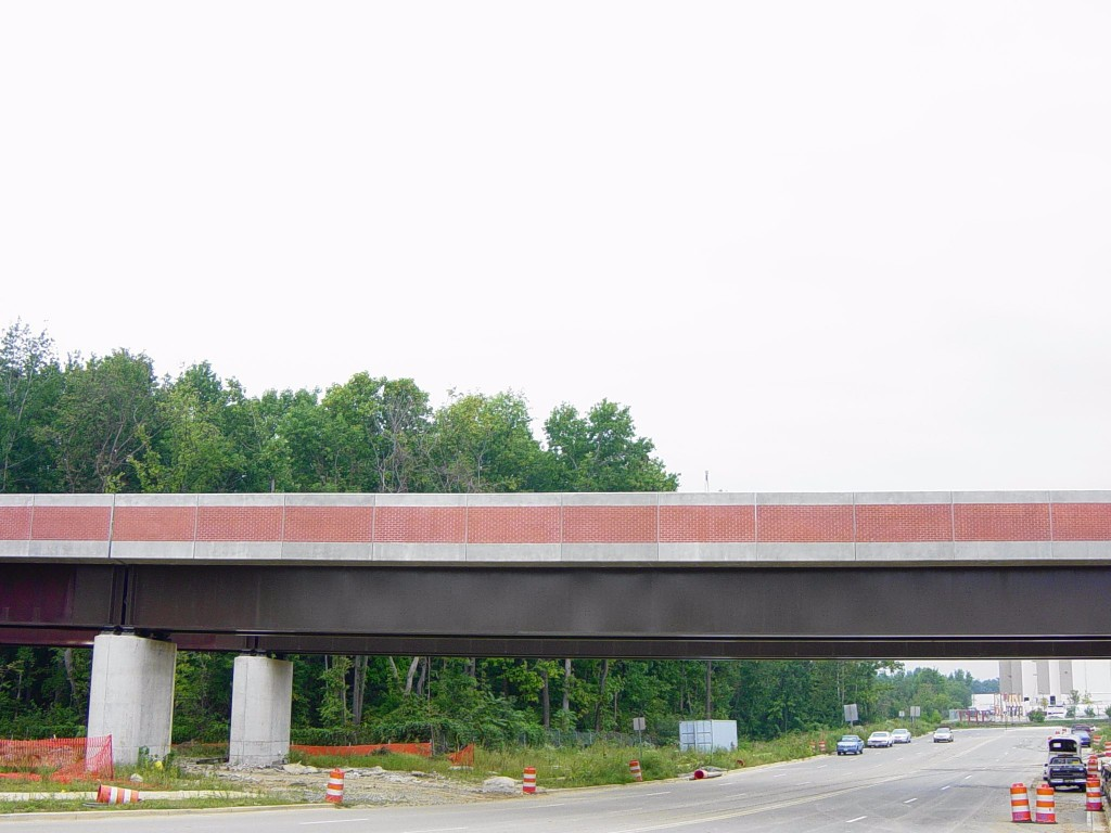 WMATA bridge parapet over road